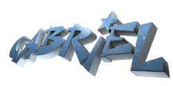 3D Text Maker - Free Online Graphic Design - gabriel