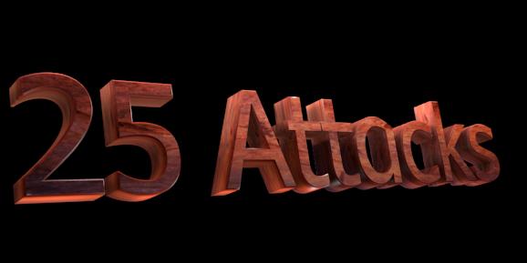 Создать 3D текст - Бесплатный редактор изображений онлайн - 25 Attacks