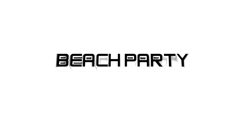 Make 3D Text Logo - Free Image Editor Online - BEACH PARTY
