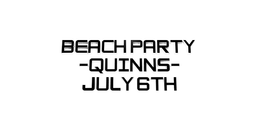Make 3D Text Logo - Free Image Editor Online - BEACH PARTY -QUINNS-JULY 6TH