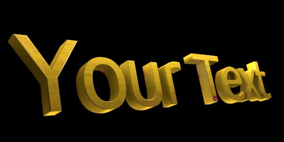 Создать 3D текст - Бесплатный редактор изображений онлайн - Your Text