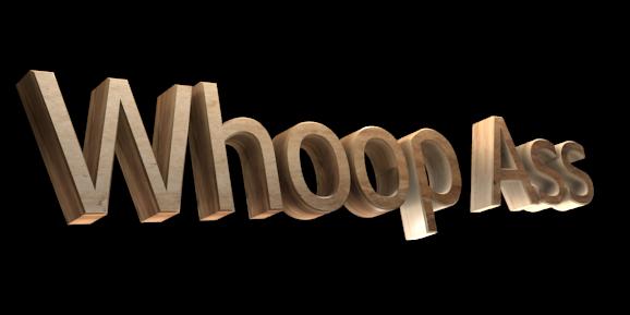 3D Text Maker - Free Online Graphic Design - Whoop Ass