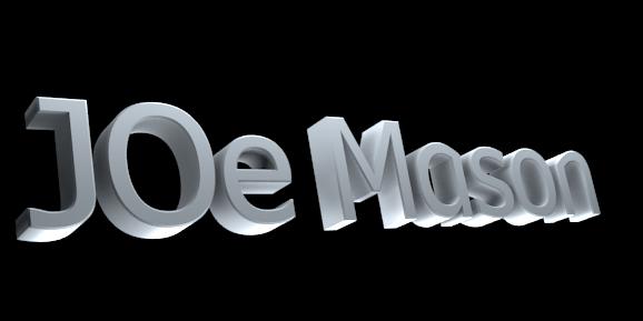 3D Text Maker - Free Online Graphic Design - JOe Mason
