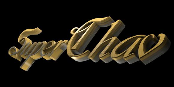 Make 3D Text Logo - Free Image Editor Online - SuperChav