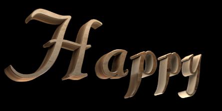 3D Text Maker - Free Online Graphic Design - H a p p y