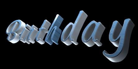 3D Logo Maker - Free Image Editor - B i r t h d a y