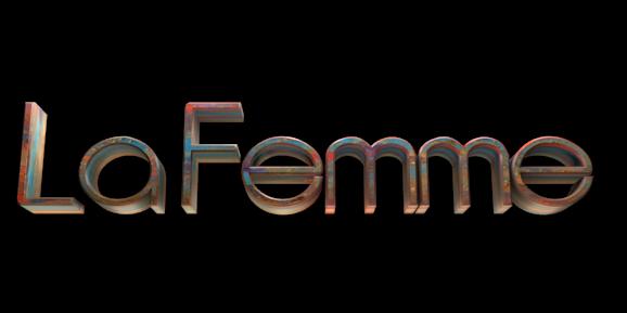 Make 3D Text Logo - Free Image Editor Online - La Femme