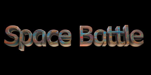 3D Text Maker - Free Online Graphic Design - Space Battle