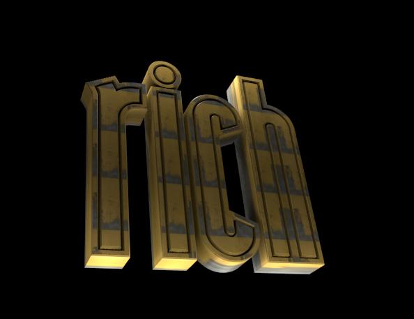 Editor de Texto 3D - Programma de Design Gráfico Gratis - RICH