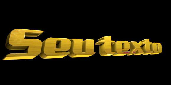 Make 3D Text Logo - Free Image Editor Online - Seu texto