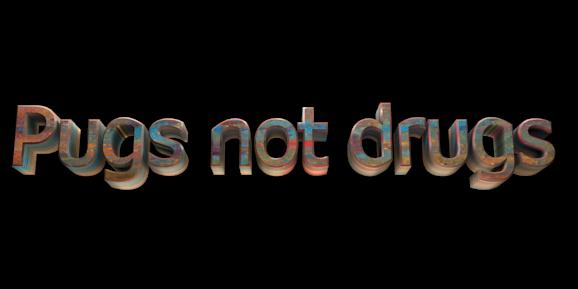 Make 3D Text Logo - Free Image Editor Online - Pugs not drugs
