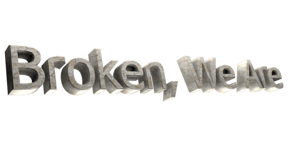 Make 3D Text Logo - Free Image Editor Online - Broken, We Are